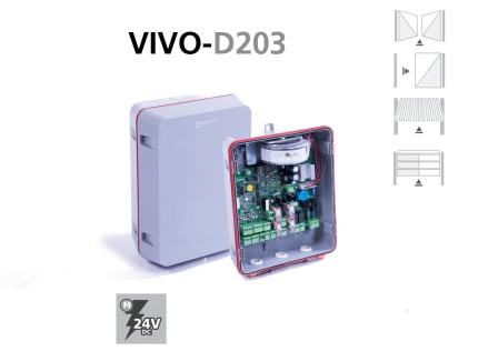 Cuadros electrónicos VIVO-D203 puertas batientes, correderas y basculantes
