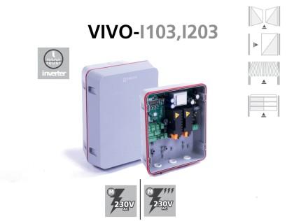 Cuadro VIVO-I103, I203 para puertas batientes, correderas y basculantes con motor digital inverter