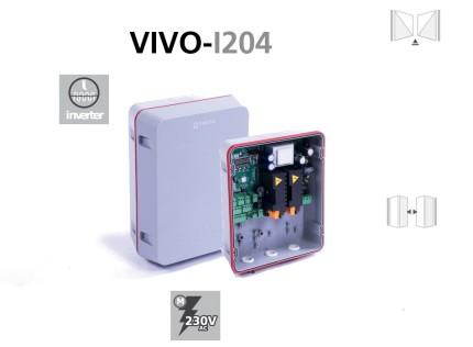 Cuadros VIVO-I204 de maniobra para puertas batientes, correderas y basculantes con motor inverter