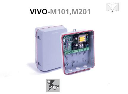 Cuadro de maniobras VIVO-M101,M201 para puertas batientes con salida para electrocerraduras