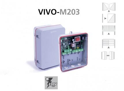 Cuadro de maniobras VIVO-M203 para puertas batientes, corredera y basculante con motores monofásicos